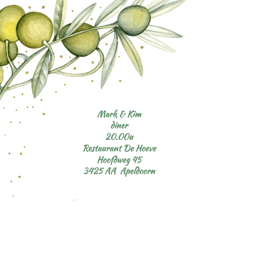 Menu trouwen olijf 2
