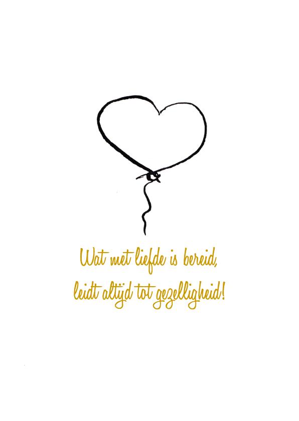 Menukaart bruiloft hartjesballon 2