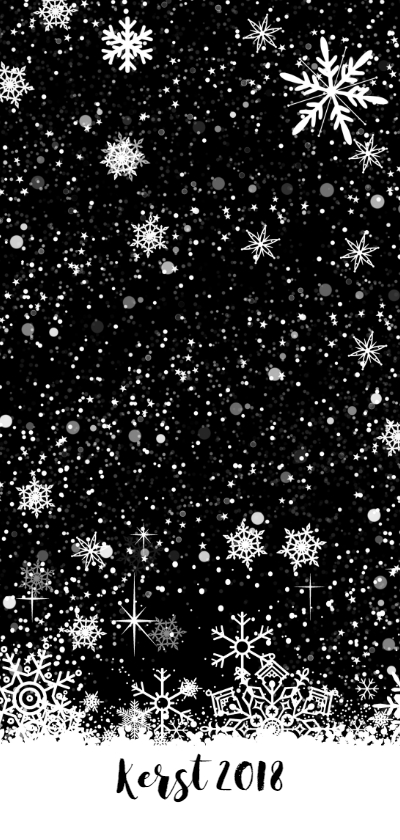 Menukaart Kerst zwart-wit achterkant