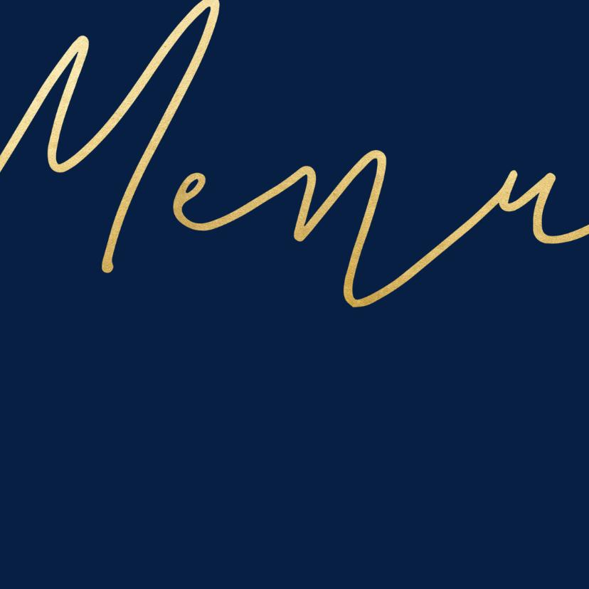 Menukaart met een gouden 'MENU' vierkant 2