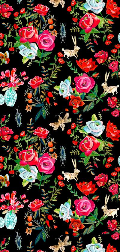 Menukaart rozen tuin achterkant