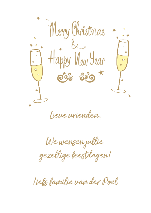 Merry Christmas & Happy New Year champagne bubbles 3