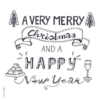 Merry Christmas zakelijk grijs 2