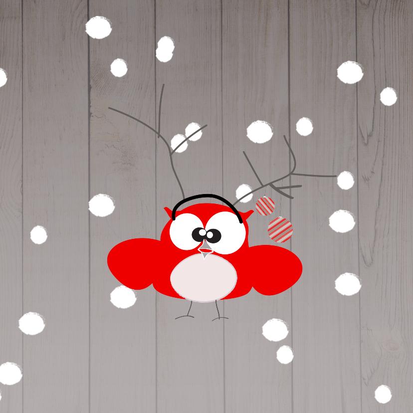 Mo Card humor kerst uil-sneeuw 3