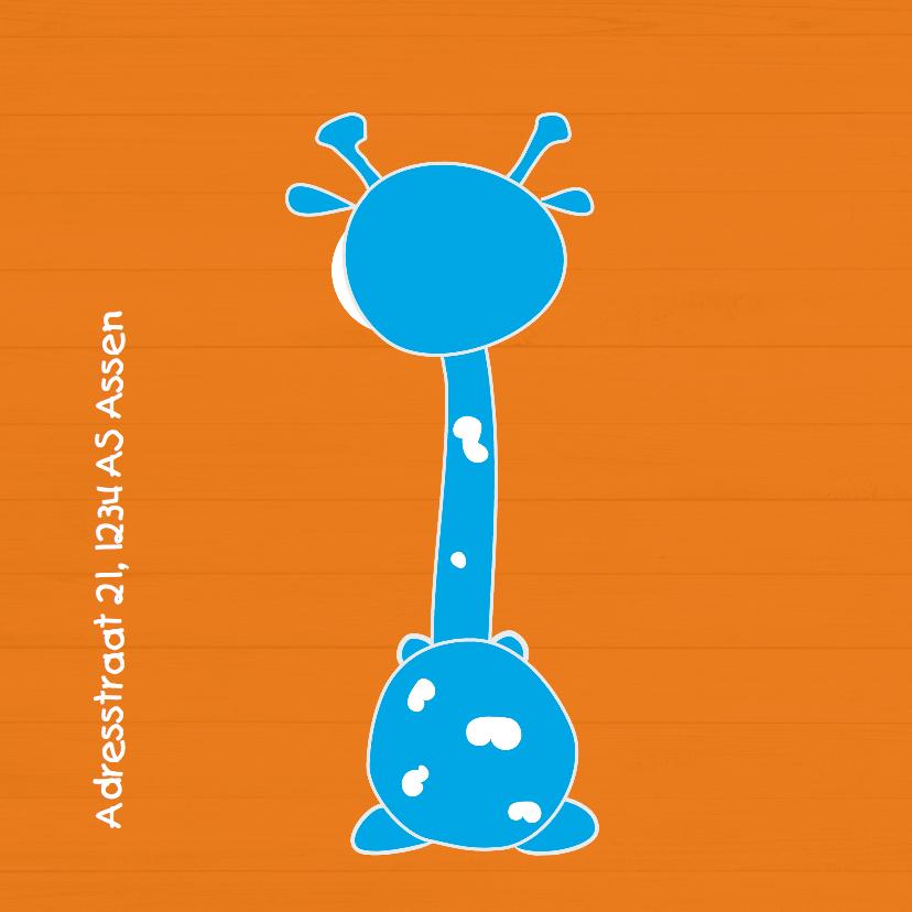 Mo Cards geboortekaart giraffe 2