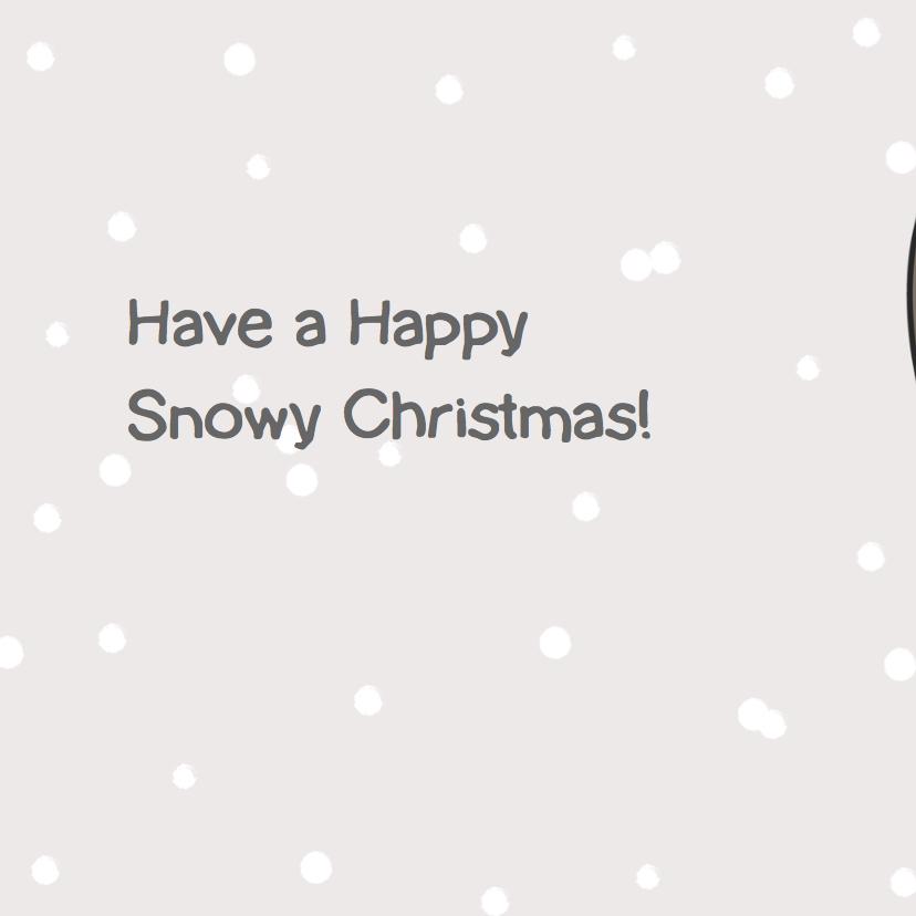 Mo Cards kerstkaart sneeuw  2