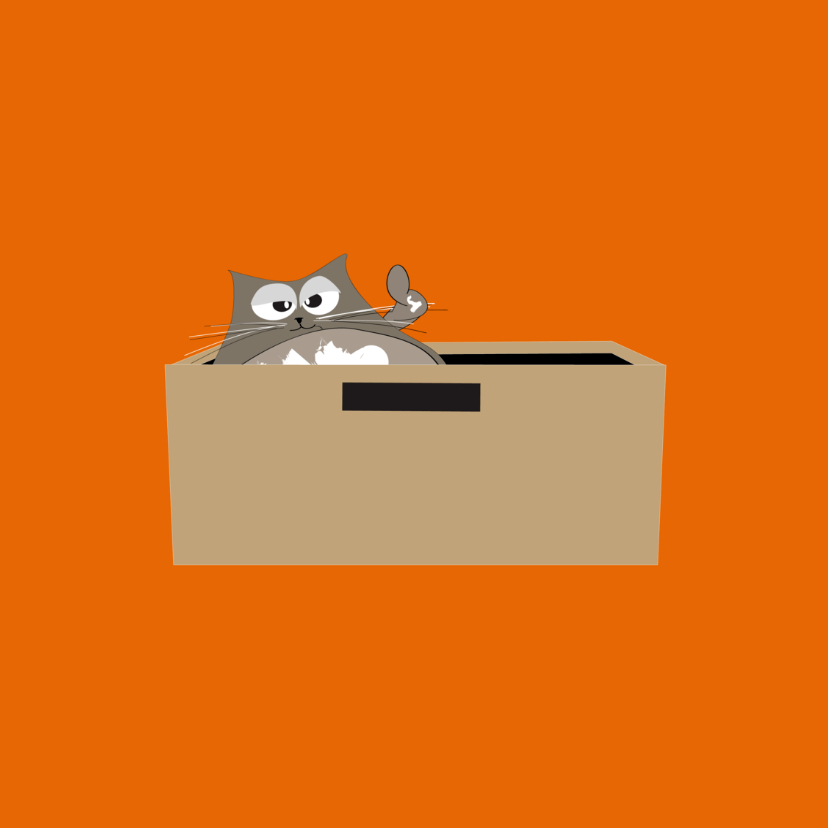 Mo Cards Succeskaart kat in bak 3