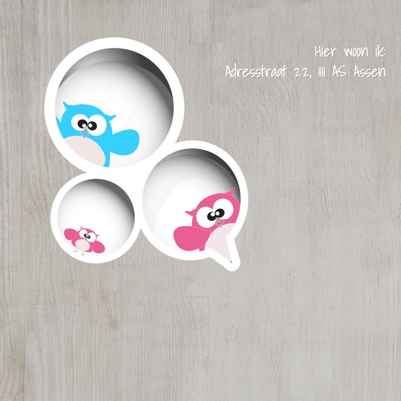 Mo Cards uiltjes gezin babykaart 2