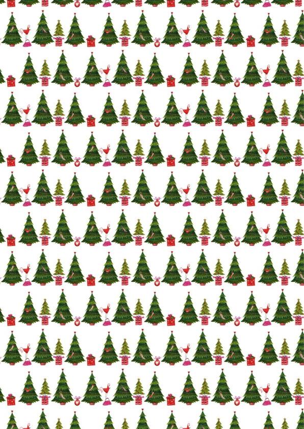 mode kerstbomen  patroon kaart 2