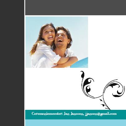 Moderne trouwkaarten met foto 2
