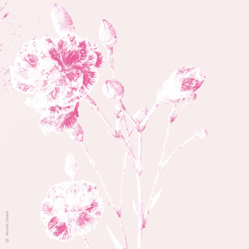 Moederdag Bloemenkaart anjer 2