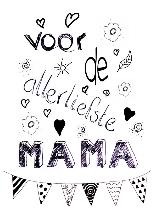 Moederdag Handletter Mama Moederdag Kaarten Kaartje2go