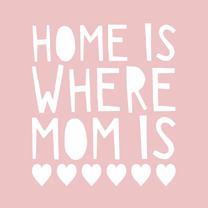Moederdag kaarten - Moederdag home is where