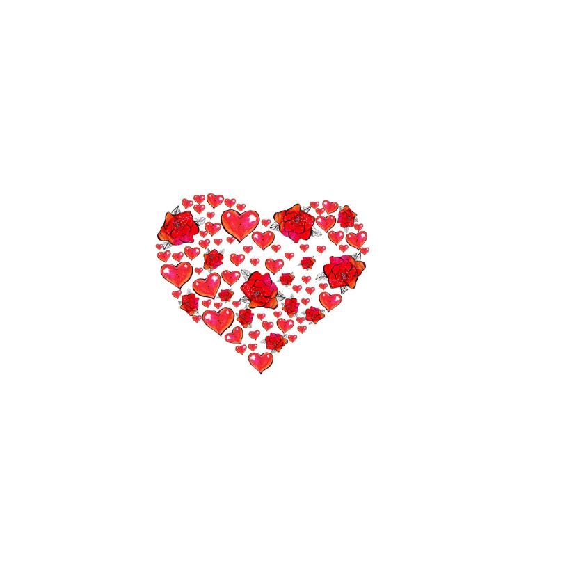 Moederdag kaart bloemen hart 2
