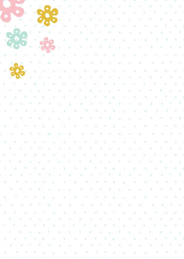 Moederdag kaart bloemen stippen 2
