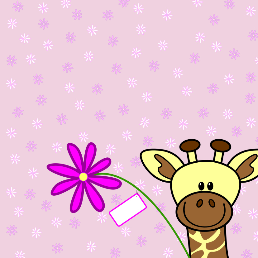 Moederdag   mama giraf en haar kindje 3