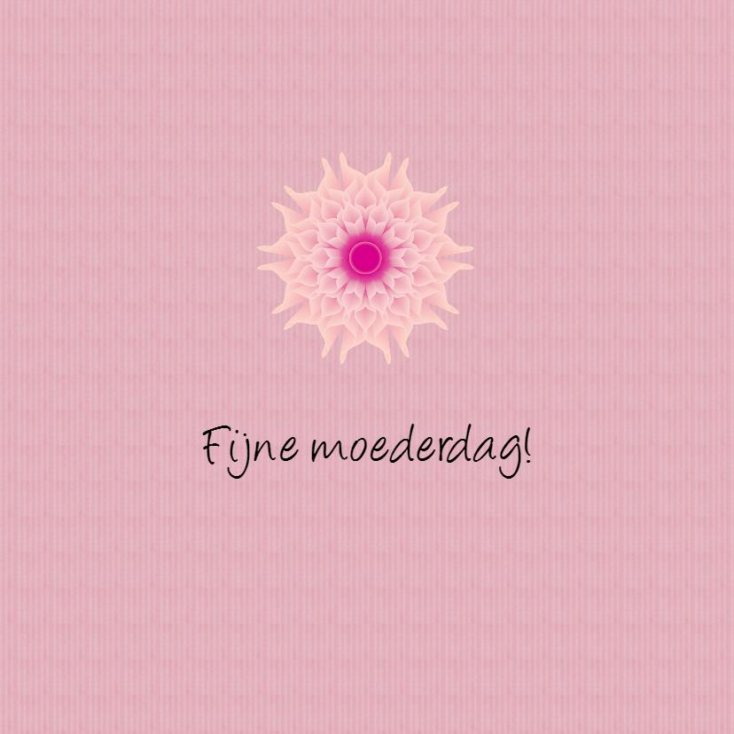 Moederdag roze bloemen - SV 2