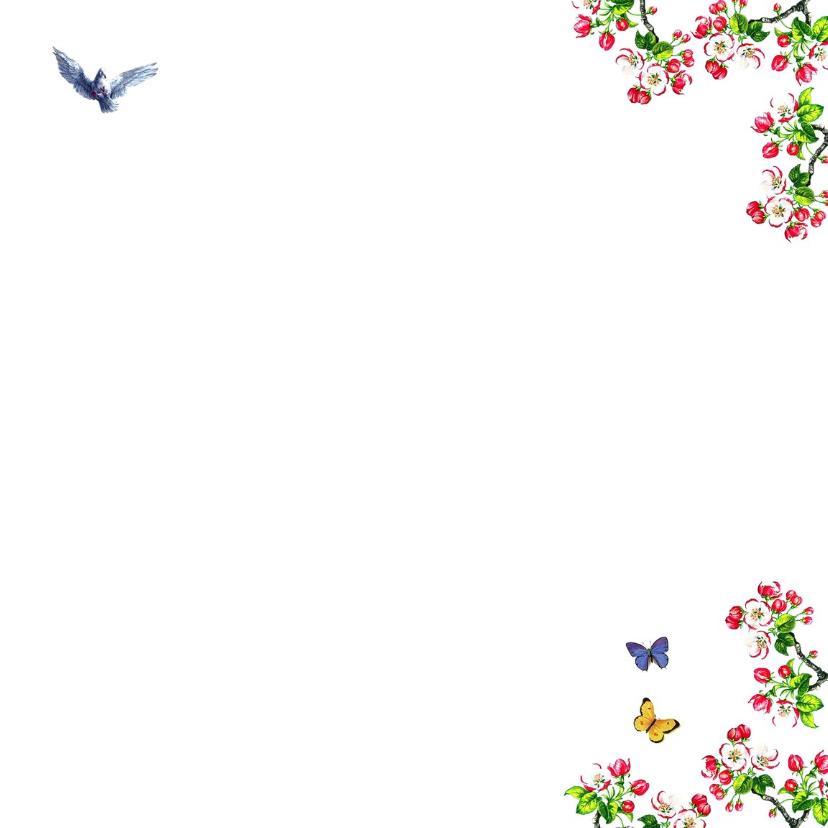 Moederdagkaart met hart van kersenbloesem bloemen 3