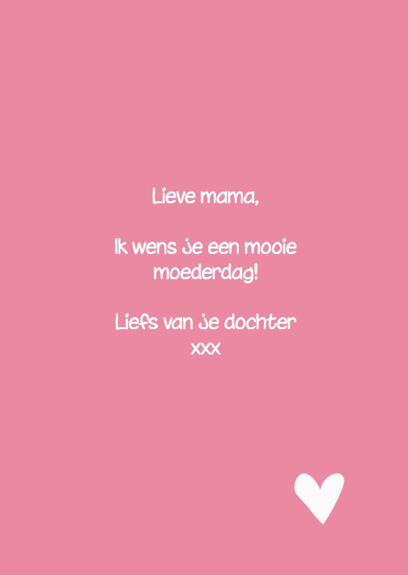 moederdagkaart meteen pioenroos voor de aller liefste moeder 3