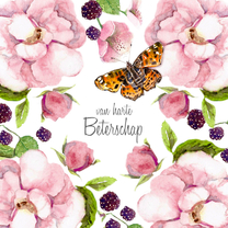 Beterschapskaart Rozenstruik vlinder