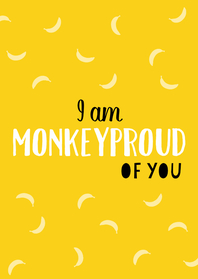 Zomaar kaarten - Monkeyproud of you geel - DH