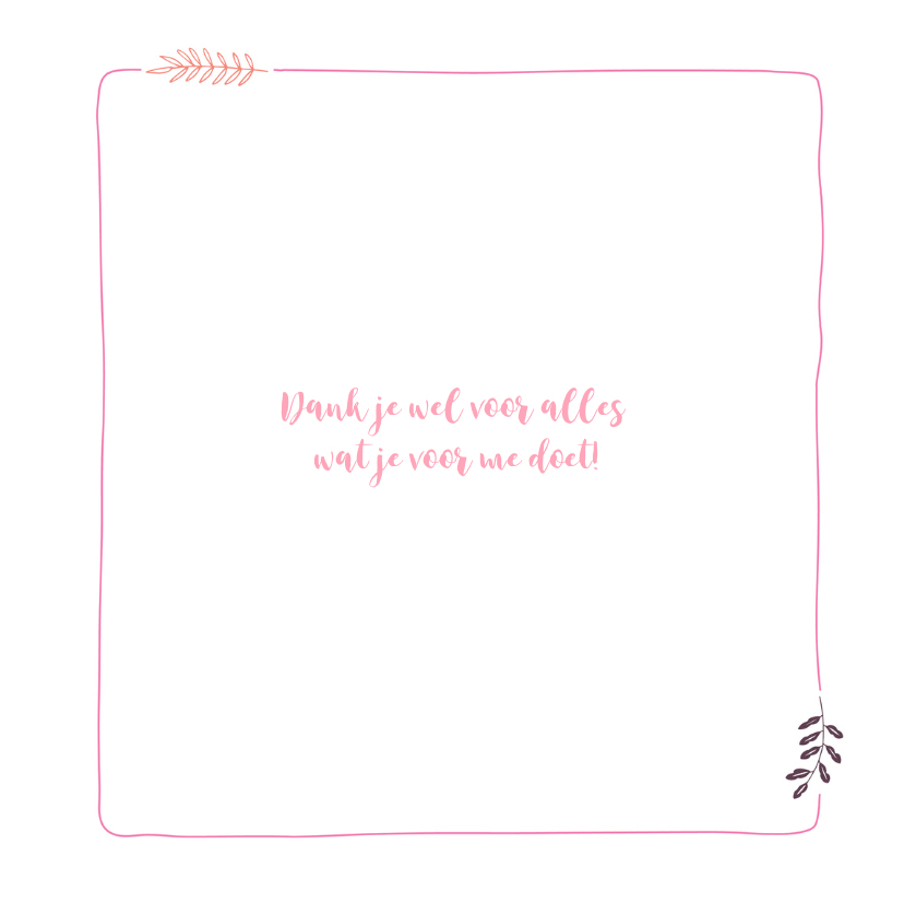 Mooie bedank kaart mooie fleurige bloemenkrans 3