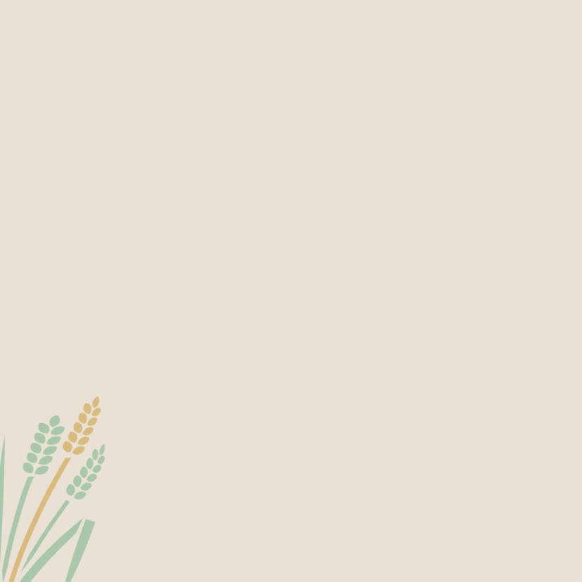 Mooie bedankkaart met blaadjes en takjes in pastel-tinten 2