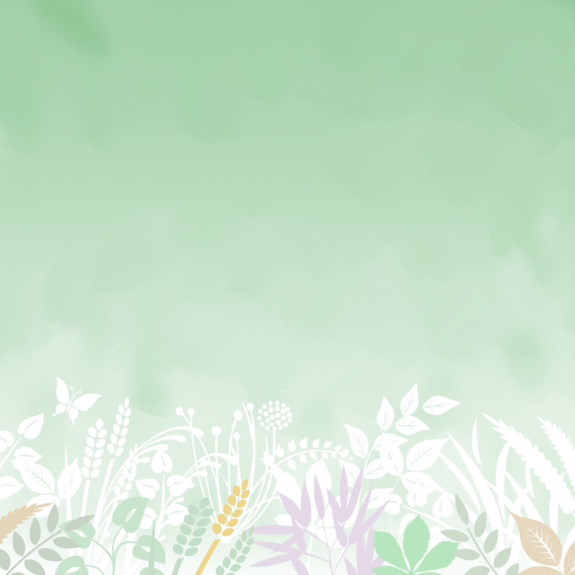Mooie bedankkaart met bloemen, blaadjes in pasteltinten 2