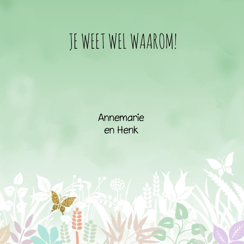 Mooie bedankkaart met bloemen, blaadjes in pasteltinten 3
