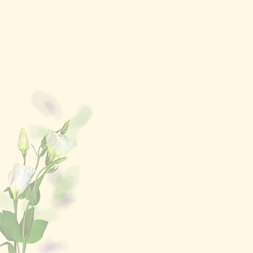 Mooie bedankkaart met zachte bloemen en eigen foto 2