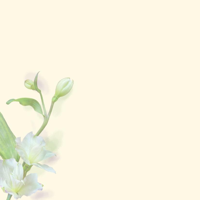 Mooie bedankkaart met zachte bloemen en tekstvoorstel 2