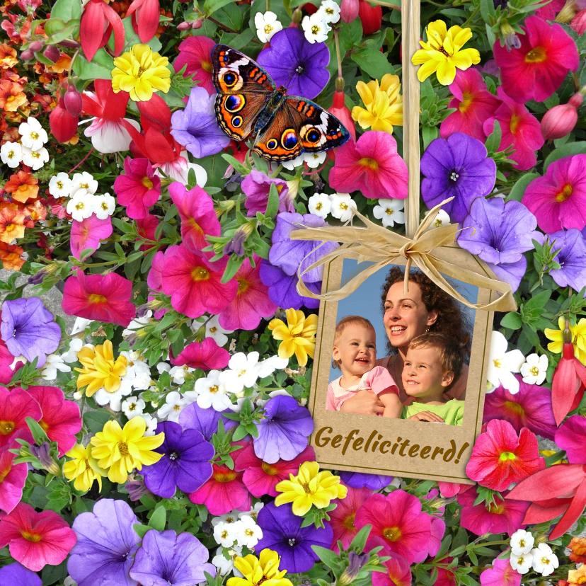 Bekend Mooie bloemenkaart met foto en diverse bloemen - Bloemenkaarten  &BB82