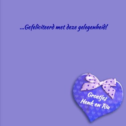 Mooie felicitatiekaart met mooie anemonen en hart 3