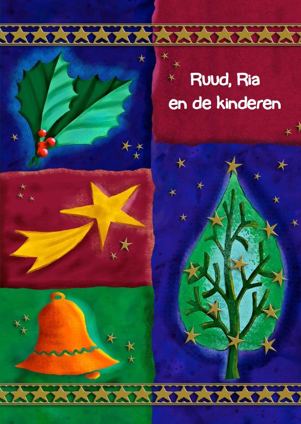Mooie kerstkaart met tekst Fijne Kerstdagen 3