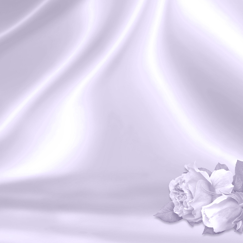 Mooie rouw- of bedankkaart met rozen en foto op satijnprint 3