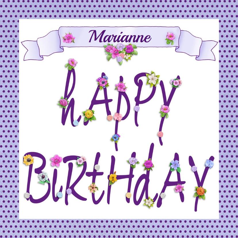 mooie verjaardagskaart happy birthday to you verjaardagskaarten