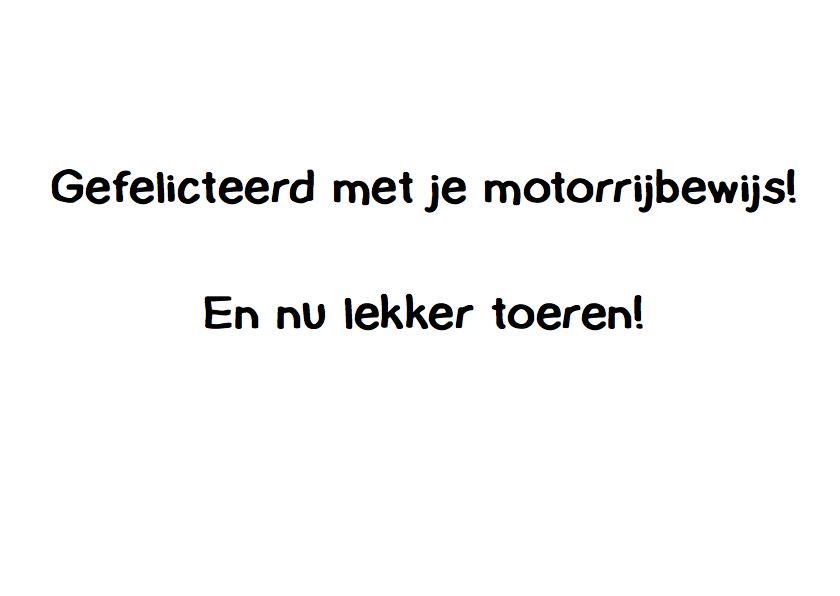 Motorrijbewijs gehaald! 3