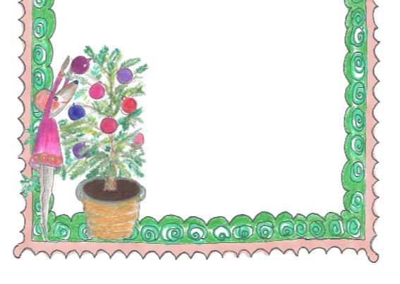 muis en kerstboom in een 2cv 3