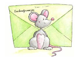 Zomaar kaarten - Muisje met post