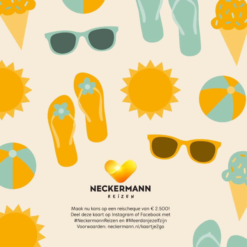 Neckermann vakantiekaart met zomerse figuren en eigen foto 2