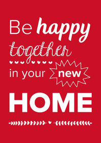 Felicitatiekaarten - New home - happy together