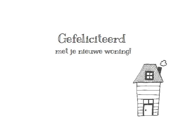 Nieuwe woning tekening huisjes 3