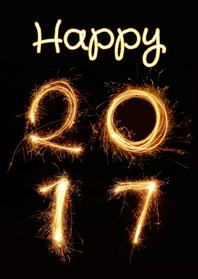 Nieuwjaar happy 2017 vuurwerk