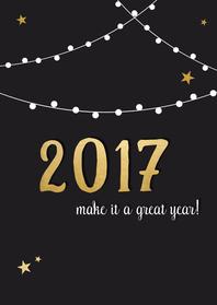 Nieuwjaar lampjes sterren - DH