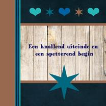 Nieuwjaarskaarten - nieuwjaar ster hout hart 87