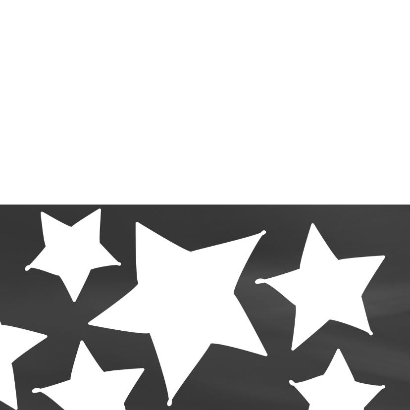 Nieuwjaars/kerstkaart eigen tekst sterren 2