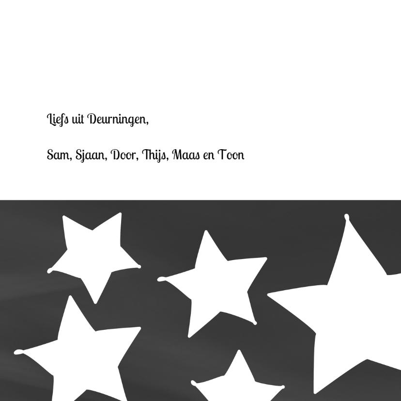Nieuwjaars/kerstkaart eigen tekst sterren 3