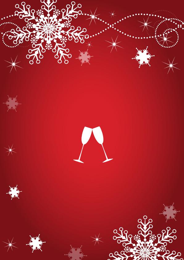 Uitnodiging kerstborrel rood 2