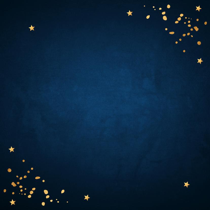 Nieuwjaarsborrel uitnodiging confetti goud 2
