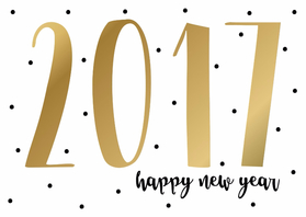 Nieuwjaarskaarten - Nieuwjaarskaart 2017 - WW